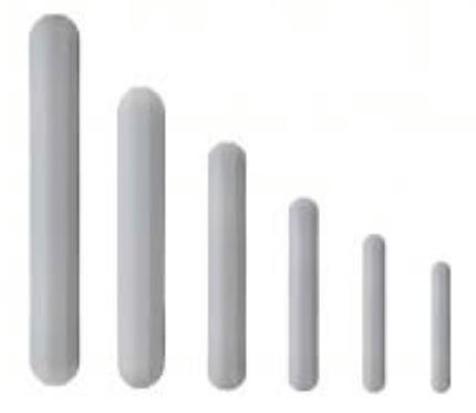 Barras magnéticas tamaño